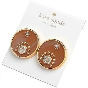 Kate Spade Out Of Her Shell Tortoise Disc Earrings